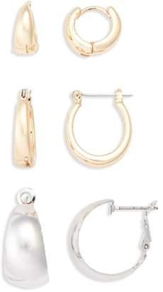 BP 3-Pack Huggie Hoop Earrings