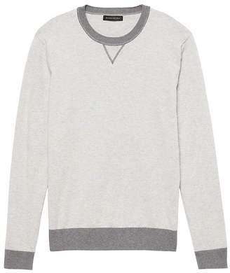 Banana Republic Premium Cotton Cashmere Heathered Crew-Neck Sweater