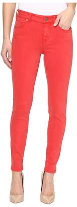 Liverpool Piper Hugger Ankle Skinny with Lift and Shape in Pigment Dyed Slub Stretch Twill in Ribbon Red Women's Jeans