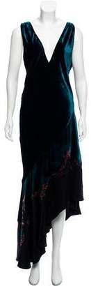 Haider Ackermann Bleach Velvet Evening Dress w/ Tags