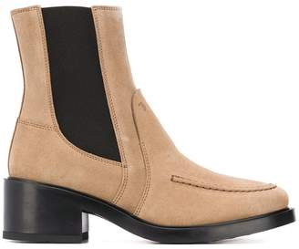 Tod's block heel ankle boots