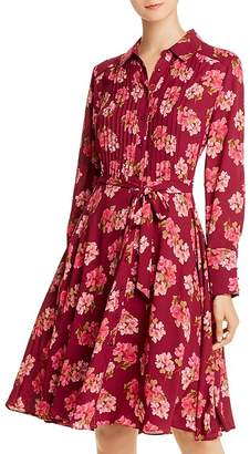 Nanette Lepore nanette Pintucked Floral-Print Shirt Dress