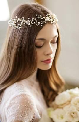 Arabella Brides & Hairpins 'Arabella' Jeweled Halo & Sash