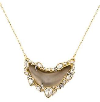 Alexis Bittar Jardin Mystère Jagged Edged Crescent Pendant Necklace