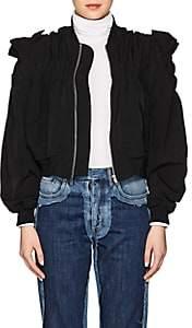 Noir Kei Ninomiya Women's Ruched Faille Bomber Jacket - Black