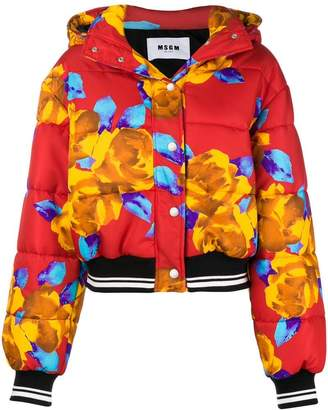 MSGM hooded oversized puffer jacket