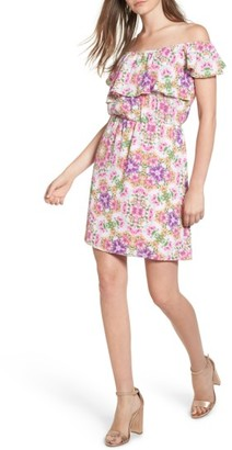 Women's Everly Floral Off The Shoulder Dress $49 thestylecure.com