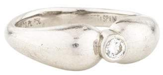 Tiffany & Co. Diamond Double Teardrop Ring