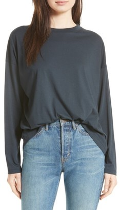 Women's Vince Relaxed Long Sleeve Tee $95 thestylecure.com