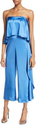 Mestiza New York Jacqueline Satin Strapless Jumpsuit