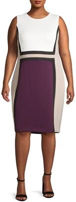 Calvin Klein Plus Paneled Sheath Dress