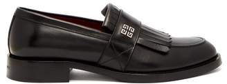 Givenchy 4G-logo fringed leather loafers