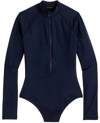 J.CrewLong torso zip-up long-sleeve swimsuit