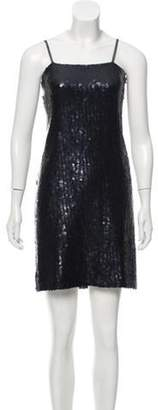 Chanel Sequined Mini Dress green Sequined Mini Dress