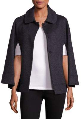 Sofia Cashmere COLLECTION Wool Point Collar Cape