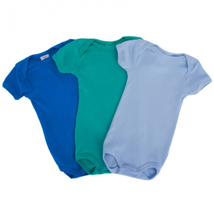Petit Bateau Three Pack Short Sleeve Bodies