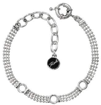 Karl Lagerfeld Rhodium Plated Ball Chain Charm Bracelet