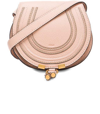 Chloé Small Marcie Grained Calfskin Saddle Bag