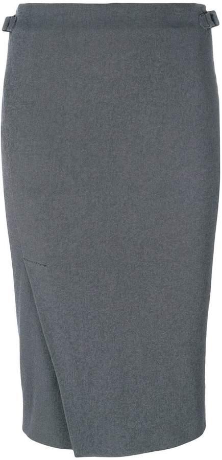 Tom Ford pleat detail pencil skirt