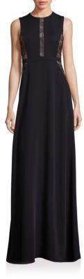 BCBGMAXAZRIA Lace Inset Gown $398 thestylecure.com