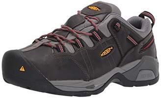 Keen Men's Detroit XT (Steel Toe) Internal Met Guard Work Boot for Construction Industrial Grey/Bossa Nova