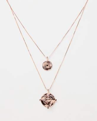Luv Aj The Evil Eye Double Coin Necklace