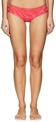 Mikoh Women's Barcelona Tropical-Print Bikini Bottom