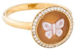 Ippolita 18K Diamond & Butterfly Shell Cameo Ring