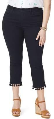 NYDJ Sheri Tassel Hem Ankle Slim Jeans