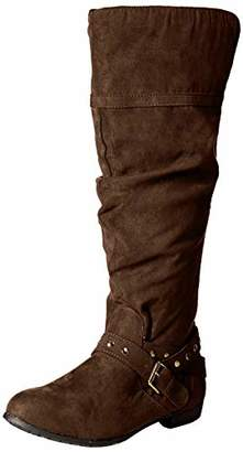 Rampage Women Beeded Round Toe Studded Strap Knee High Boot