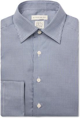 Etro Blue Slim-Fit Puppytooth Lyocell Shirt - Men - Blue