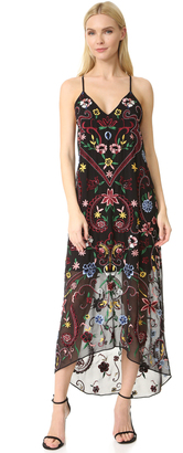 alice + olivia Jameson Embroidered Y Back Dress $595 thestylecure.com