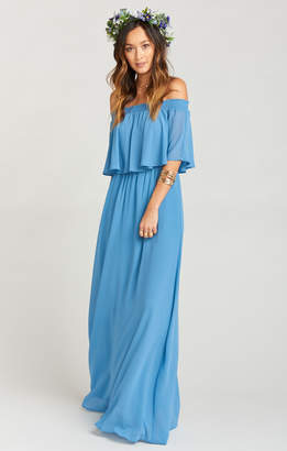 Show Me Your Mumu Hacienda Maxi Dress ~ Coastal Blue Chiffon