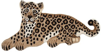 Leopard Wool & Cotton Rug