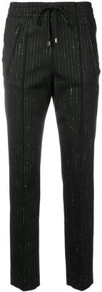 Dondup pinstripe elasticated waist trousers