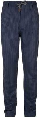 Brunello Cucinelli Pinstripe Wool Trousers