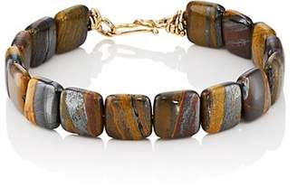 Dean Harris Men's Tiger Iron Beaded Bracelet - Brown