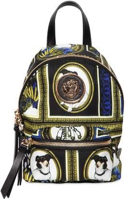 Versace Archive Printed Nylon Mini Backpack