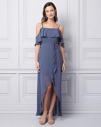 Le Château Chiffon Cold Shoulder Gown
