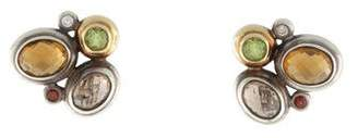David Yurman Multistone Mosaic Earclips