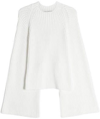 Rosetta Getty Cropped Back Knit Pullover