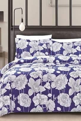 California Design Den by NMK Exotica Comforter 3-Piece Set - King - Deep Blue