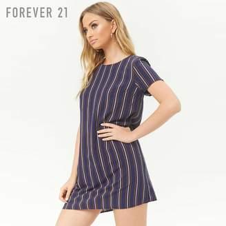 Forever 21 (フォーエバー 21) - Forever 21 マルチストライプシフトワンピース