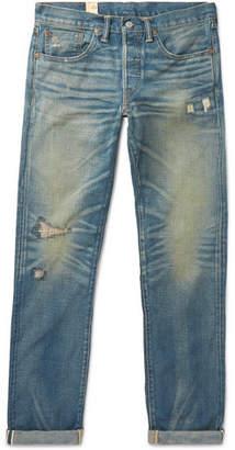 RRL Ridgway Slim-Fit Distressed Selvedge Denim Jeans