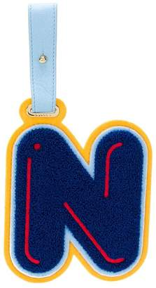 Chaos Letter N luggage tag