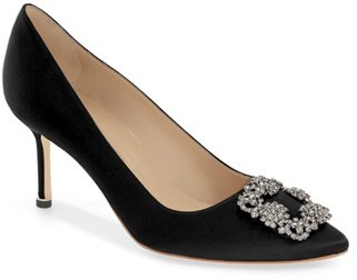 Women's Manolo Blahnik 'Hangisi' Pointy Toe Pump $965 thestylecure.com
