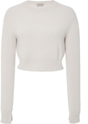 MRZ Cropped Ribbed Sweater