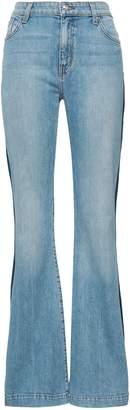 Derek Lam 10 Crosby Striped High-rise Flared Jeans