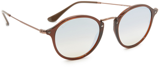 Ray-Ban Round Mirrored Sunglasses $185 thestylecure.com
