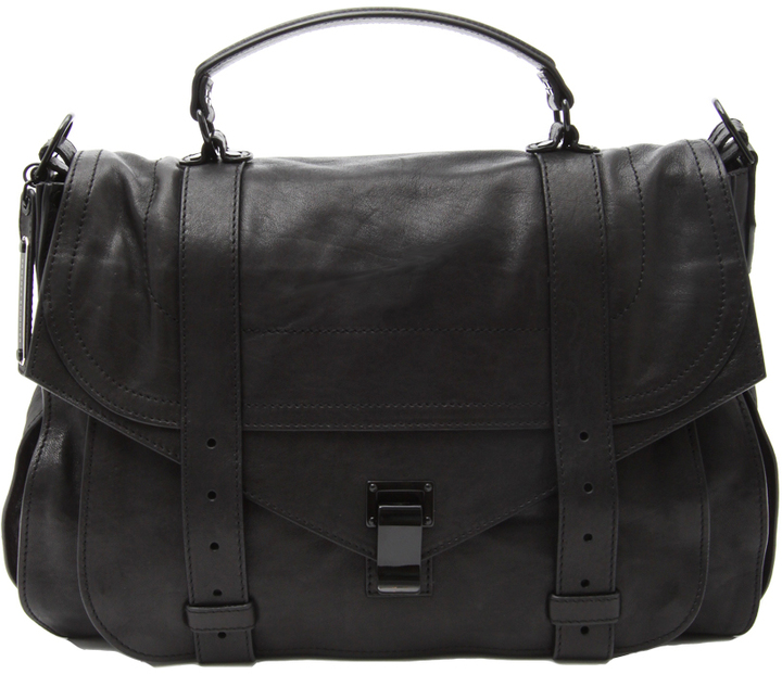 Proenza Schouler Extra Large Leather PS1 Bag - Black